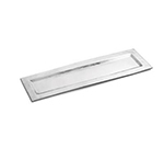 Tablecraft R247 Remington Collection Tray, 23-1/2 x 7-1/4 in, Rectangular, Stainless Steel