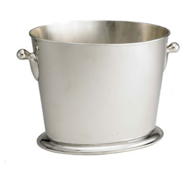 Tablecraft RWC149 2-Bottle Oval Wine Bucket w/ Base, Mirrored Stainless