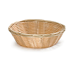 Tablecraft 1177W Handwoven Basket, 7 x 2-in, Polypropylene Cord, Round