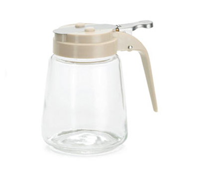 Tablecraft 1370A 8-oz Glass Dispenser, Almond AB