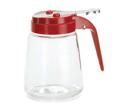 Tablecraft 1370RE 8-oz Red ABS Top Glass Dispenser