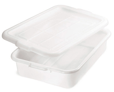 Tablecraft 1529N Polyethylene Food Storage Box, 21.25 x 15.75 x 5-in, White