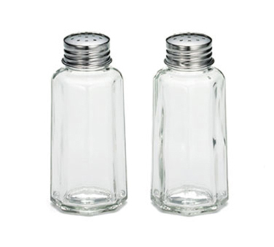 Tablecraft 157S&P 2-oz Salt Pepper Shaker w/ Flat Stainless