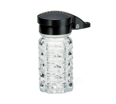 Tablecraft 163MPBK 1-1/2-oz Salt Pepper Shaker w/ Black ABS Top, Moisture Proof
