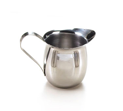 Tablecraft 2305 5-oz Stainless Steal Bell Creamer, Mirror Finish