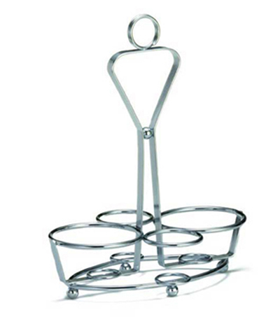 Tablecraft 260R Chrome Plated Combo Rack w/ ID Rings, Built-in Merchandising Ring