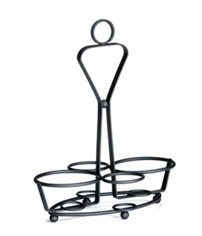 Tablecraft 260RBK Combo Rack w/ Heavy Weight Black Powder Coated, ID Rings