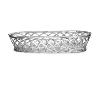 Tablecraft 3117 Oblong Victorian Basket, 9 x 4 x 2-1/4-in, Silver Plated