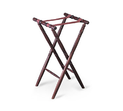 Tablecraft 31 Tray Stand w/ Mahogany Finish, Spindle Design, Washable