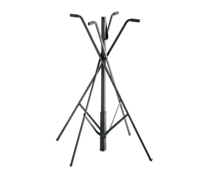 "Tablecraft 331 30"" Folding Tray Stand - Quadpod Style, Aluminum/Black"