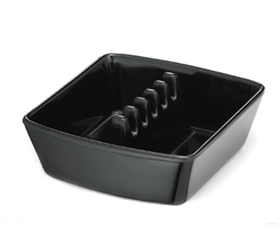 Tablecraft 351B-1 Safety Island Ashtray, 4-1/4 x 3-3/4 x 1-1/2-in, Black Phenolic