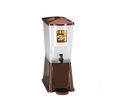 Tablecraft 354DP 3-Gallon Slimline Beverage Dispenser, Polypropylene, Brown, Single