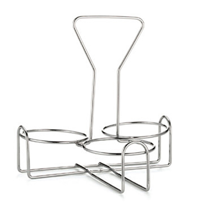 Tablecraft 355R3 3-Ring Rack w/ Chrome Plated Metal, Fits Mo
