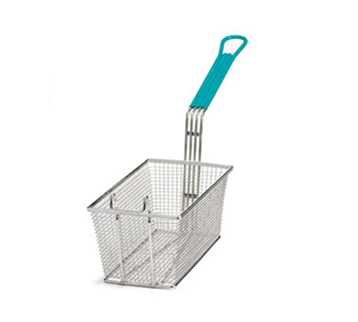 Tablecraft 42 Fry Basket, 13-3/8 x 6-1/2 x 5-7/8, Mesh, Green PVC Handle