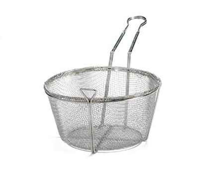 Tablecraft 487 Nickel Plated Fry Basket, 8-1/2 x 5-i