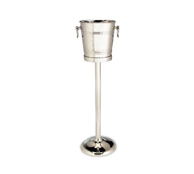 Tablecraft 5198 7-Quart Stainless Steel Wine Champagne Bucket w/ Hammered Finish