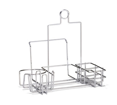 Tablecraft 5457R Chrome Plated Metal Diner Rack w/ Built-In Merchandising Ring