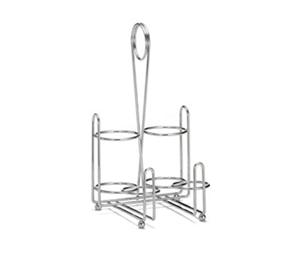 Tablecraft 594C Chrome Plated Combination Rack, Fits 8-oz Squeeze Dispensers
