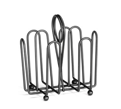 Tablecraft 597CBK Black Metal Jelly Packet Rack, Fits Packets U
