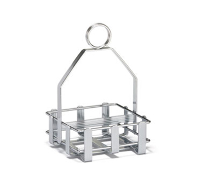 Tablecraft 602R Chrome Plated Sugar Packet Rack, Double-Sided