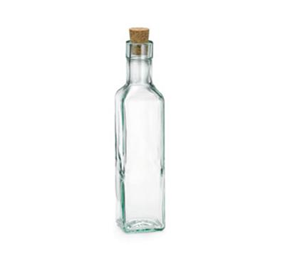 Tablecraft 6085 8-1/2-oz Square Glass Olive Oil Bottle