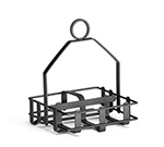 Tablecraft 609RBK Black Metal Condiment Rack, Fits 2-1/8-in Salt Pepper Shakers