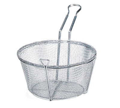 Tablecraft 687 Chrome Plated Fry Basket, 8-1/2 x 5-in Rou
