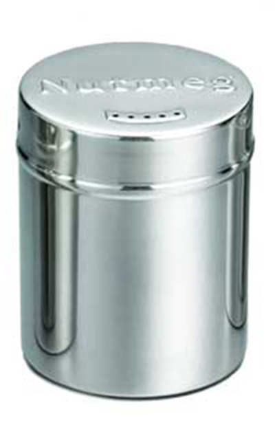 Tablecraft 756 6-oz Stainless Steel Coffee Shaker w/ Storage Lid for Nutmeg
