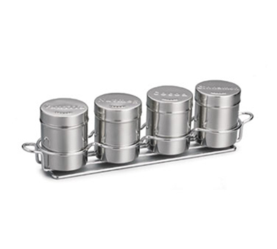 Tablecraft 759X 6-oz Coffee Shaker Set, Includes 4-Ring Chr