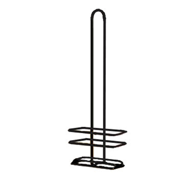 Tablecraft 916RBK Black Powder Coated Metal Cruet Rack, Fits