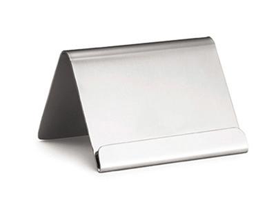 Tablecraft B17 Stainless Steel Card Holder w/ Lip, 2-1/2 x 2 x 2-in