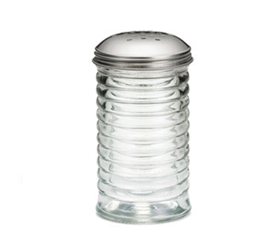 Tablecraft BH8800 12-oz Glass Cheese Shaker w/ Stainless Steel Top