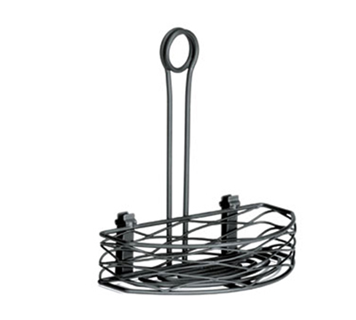 Tablecraft BK159512 Black Powder Coated Metal Artisan Versa Rack w/ 4-in Fro