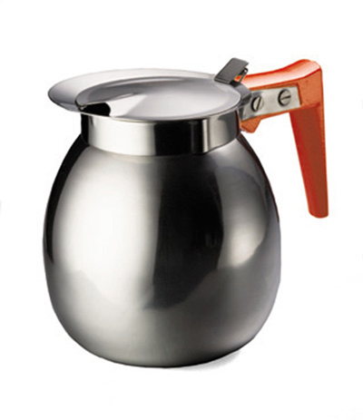 Tablecraft DD511 64-oz Stainless Steel Coffee Server w/ Orange Handle