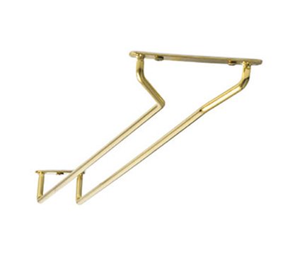 Tablecraft GHB10 10-in Brass Plated Glass Hanger