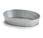 "Tablecraft GP96 Oval Dinner Platter - 9-1/2x6"" Galvanized Steel"