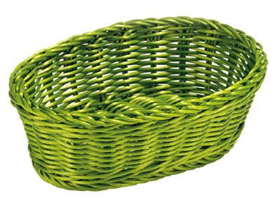 Tablecraft HM1174R Oval Basket, 9-1/4 x 6-