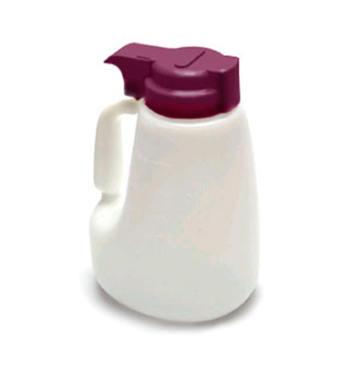 Tablecraft MW48M 48-oz Polyethylene Option Dispenser w/ Maroon ABS Top