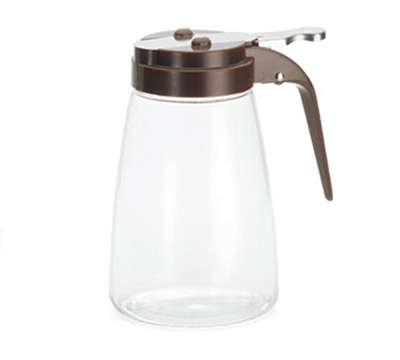 Tablecraft P10B 10-oz Polycarbonate Dispenser w/ Brown ABS Top