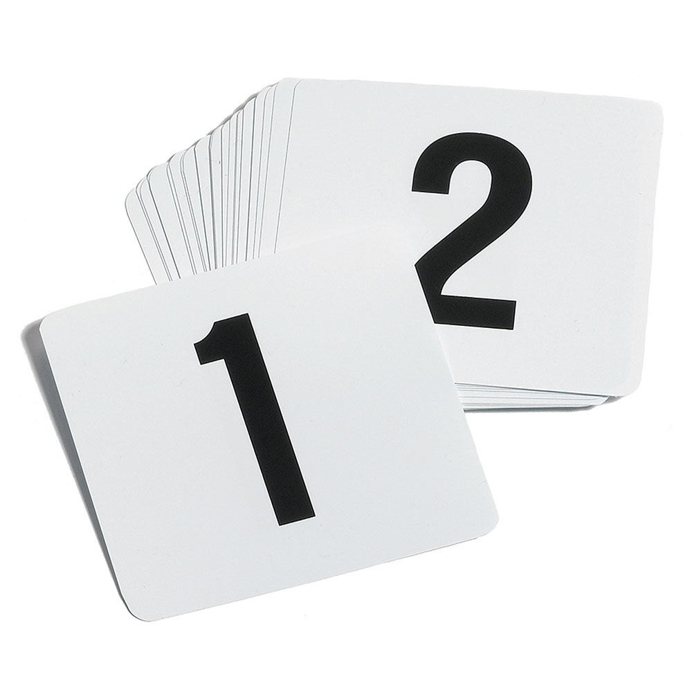 Tablecraft TN100 Number Card Set, 1-100