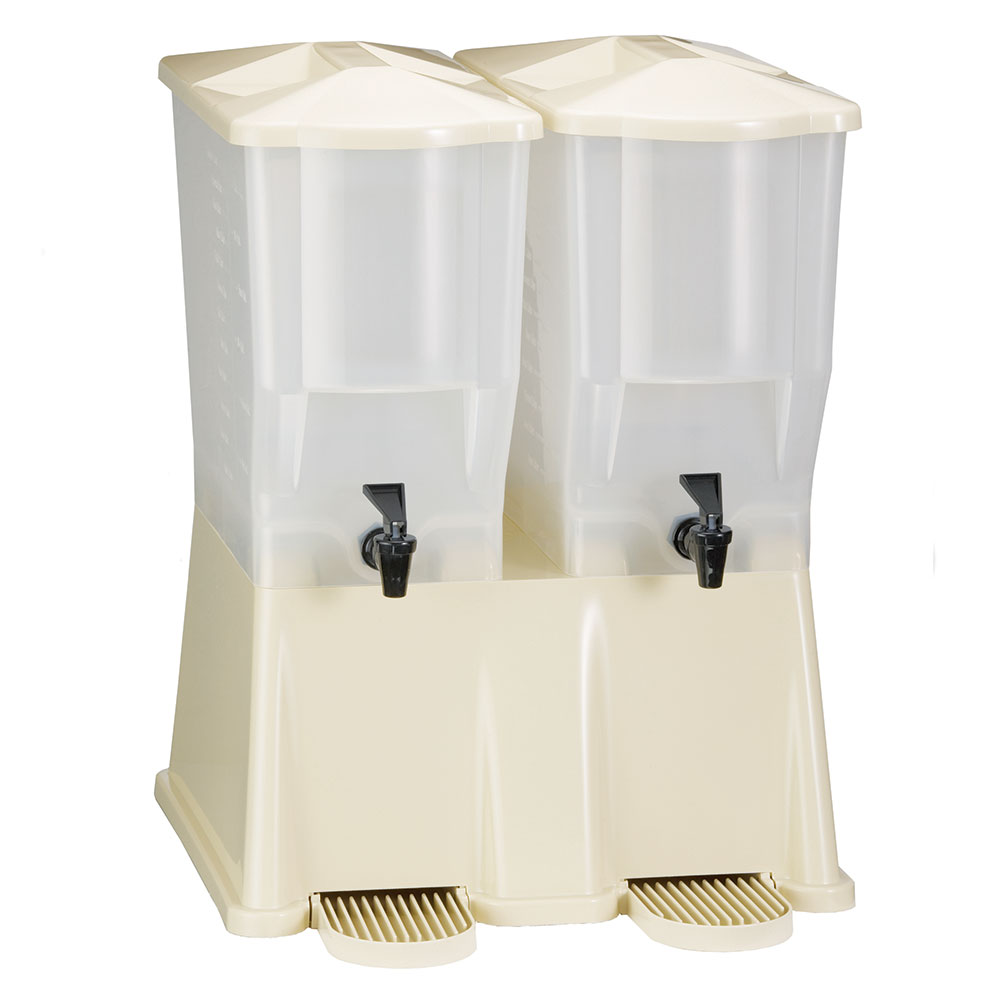 Tablecraft TW33DP 3-Gal Beverage Dispenser w/ Double Reservoir & Tomlinson Faucet
