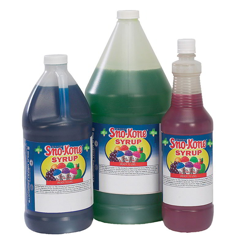 Gold Medal 1055 Ready-To-Use Flavor Syrup, Blue Raspberry, (4) 1-Ga
