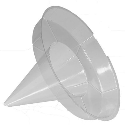Gold Medal 1080 Clear Disposable Super Cone Drip Proof Sno-Ko