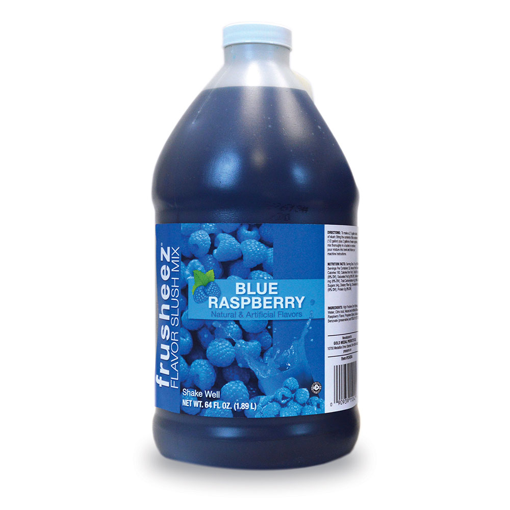 Gold Medal 1242 Frusheez Mix, Blue Raspberry, (6) 1/2 Gallons Per Case