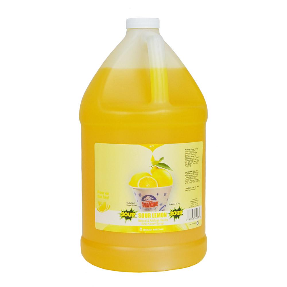 Gold Medal 1258 Sour Lemon Sno Treat Flavor, (4)