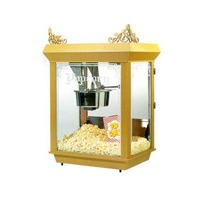 Gold Medal 2014 120208 Gay 90's Whiz Bang Popcorn Machine, 14 oz Kettle, Gold Dome, 120/208 V