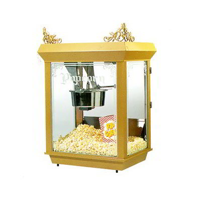 Gold Medal 2014 120240 Gay 90's Whiz Bang Popcorn Machine, 14 oz Kettle, Gold Dome, 120/240 V