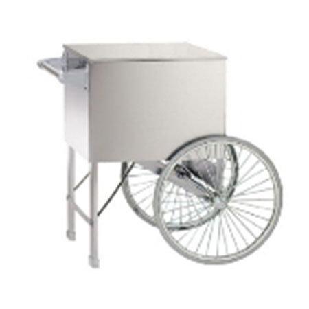 Gold Medal 2015W Popcorn Cart w/ 2-Spoke Wheels, White, 38x27-in
