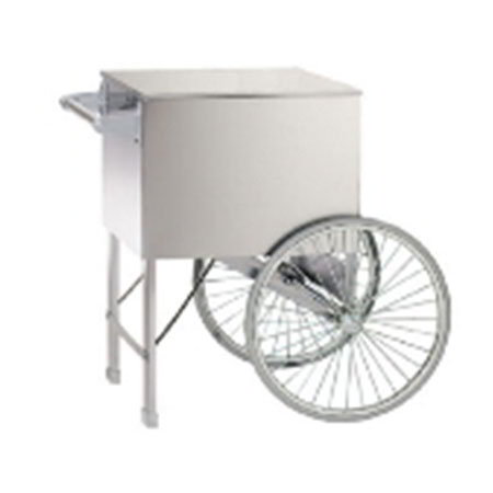 Gold Medal 2015W Popcorn Cart w/ 2-Spoke Wheels, White, 38x27-i
