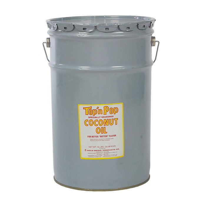 Gold Medal 2041 Coconut Popping Oil, With Butter Flavor, 50 lb Drum